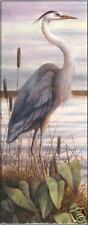 Blue Heron Paper Tole 3D Decoupage Craft Kit size 8x20 22183
