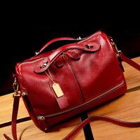 Soft Genuine Leather Women's Handbag Shoulder Satchel Boston Travel Bag Hobo