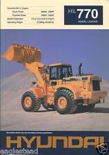 Equipment Brochure - Hyundai - Hl770 - Wheel Loader - 1998 (E2571)