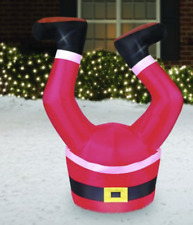 Santa Legs Inflatable Airblown Christmas Decoration Yard Decor Party Greeter 3.5