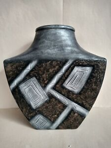 Large Pewter and bronze coloured  metal Vase UK sell only