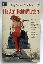 APRIL ROBIN MURDERS Rice McBain DELL D 306 Mystery