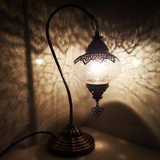 Turkish Marocain Ottomane Mosaïque Lampe Lumière Tiffany Bureau en Verre Table