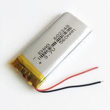 3.7V 560mAh Li-ion li po polymer rechargeable Battery For DVD PAD Camera 602248