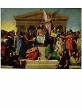 "1967 Vintage INGRES ""THE APOTHEOSIS OF HOMER"" FABELOUS COLOR offset Lithograph"