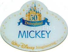Disney Pin 39014 WDI Cast Exclusive 50th Anniversary Name Tag Replica Mickey LE