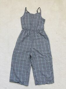 BRand New Girls Black Checked Sleeveless Jumpsuit Age 5-6 Years Abercrombie