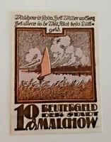 MALCHOW REUTERGELD NOTGELD 10 PFENNIG 1922 NOTGELDSCHEIN (10726)