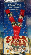 Disney Parks Lanyard Starter Set Delicious Mickey Minnie Goofy Donald  4 Pin Set