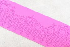 Pink Lace Flora Silicone Mold Sugar Craft Fondant Cake Decorating Baking Pad Mat