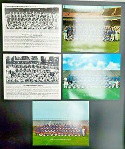 """1967(2), 1968, 1969, 1971 Baltimore Colts Original 8x10"""" Team Photos"""