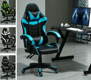 Swivel Faux Leather Office Chair Gaming Sports Racing Computer Desk Chair  A