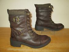 Rocket Dog Brown Military Style Womens Boots UK Size 3 - Excellent Condition
