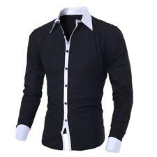 Luxury Mens Classic Long Sleeve Shirt Formal Casual Smart Slim Fit Stylish Tops