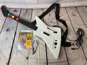 Guitar Hero Xplorer  Microsoft Xbox 360 Red Octane White Wired USB Activision