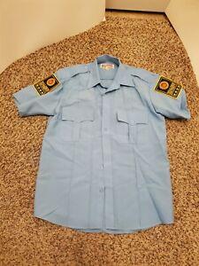 Walden Security Short Sleeve Blue Uniform Shirt National Patrol 15 -15 1/2