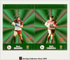 1997 Dynamic Rugby League POP-UP CARDS Team Sets-MANLY SEA EAGLES(2)