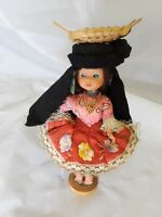"Souvenir Doll Nazare Portugal 7"" Tall"