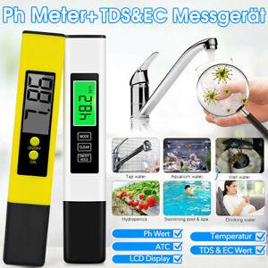 Digital PH Wert + TDS EC Wasser Messgerät Tester Meter Aquarium Pool Prüfer 0-14