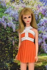 HM OOAK Outfit For Vintage No Bangs Francie Barbie Doll ORANGE Dress FREE SHIP!
