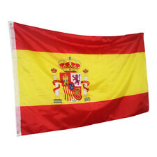BANDERA DE ESPAÑA CON OJALES ANILLAS DE LATÓN 150X90 CM