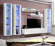 Idea d6 - white contemporary entertainment center / modern tv wall unit