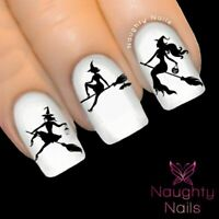 HALLOWEEN Sexy Witch Silhouette Nail Water Transfer Decal Sticker Art Tattoo