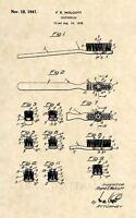 Official Toothbrush US Patent Art Print- Vintage 1941 Dental Dentist Antique-413
