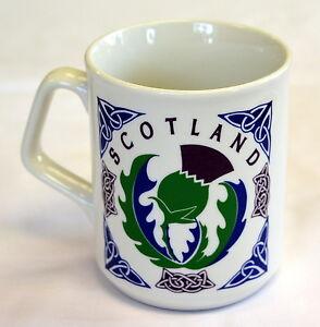 SCOTTISH THISTLE design MUG , with CELTIC Pattern, Scotland