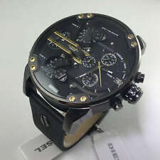 DIESEL MR.DADDY 2.0 Black Dial Black Leather Men's Watch DZ7348