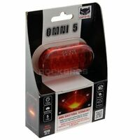 CATEYE Bike Bicycle Light Rear Light Led Taillight Lamp Flashlight-OMNI 5 Red