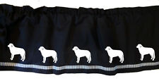 Kuvasz Dog Window Valance Curtain . Choice of Colors*