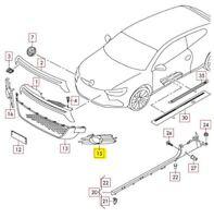 New Genuine VW Scirocco 09-14 R Front Bumper Lower Grill Left Black 1K8854661041