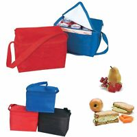 """9"""" x 6""""x 5"""" Insulated 6-Pack Nylon Cooler Picnic Lunch Bag Box Water Cooler"""