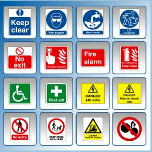 HI RESOLUTION HEALTH AND SAFETY HAZARD & WARNING SIGNS  POSTERS COLLECTION