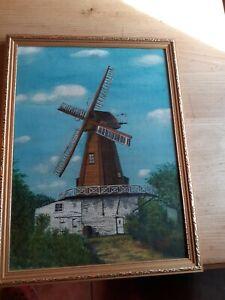 Oil Painting Windmill Stanley C Bull