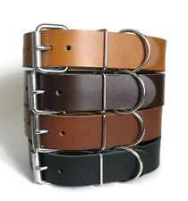 """Leather Dog Collar 1.5"""" Wide for Large & X Large Dogs Handmade in USA"""