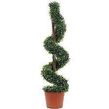 X1 Árbol De Jardín Espiral realistas de imitación Artificial Maceta 3 ft (approx. 0.91 m) exterior interior de la caja