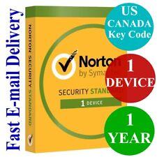 Norton Internet Security Standard 1 Device / 1 Year (US & CANADA Key Code) 2020