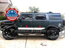 """2003-2009 Hummer H2 Chrome Stainless Steel Rocker Panel Trim 6"""" - 4Pcs Body Side"""
