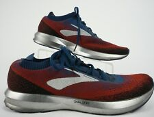 Brooks Levitate 2 Mens 12 Blue Red Knit Mesh Athletic Neutral Road Running Shoes