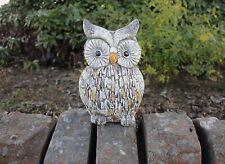 Stone Effect Owl Garden Ornament Outdoor Statue Animal Figure Bird Xmas Gift