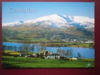 POSTCARD CUMBRIA CONISTON - VIEW OVER LAKE TOWARDS THE HILLS