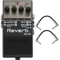 BOSS RV-6 Digital Reverb Stereo Mono Guitar Effects Pedal Stompbox +Patch Cables