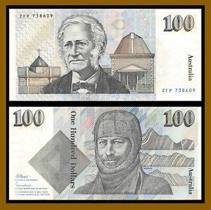 Australia 100 Dollars, 1984-92 (1985) P-48b Sig: Johnston/ Fraser (Unc 64)