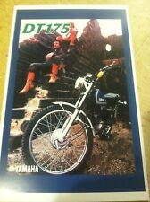 Vintage Yamaha DT175 Motorcycle Poster Home Decor Man Art Christmas Present