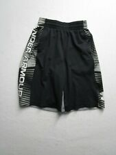 Under Armour Youth S Gray Athletic Shorts Casual Sports Elastic Waist Logo Nice