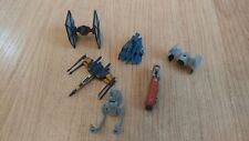 LOT of 6 Star Wars (lfl) Mini Ships - X-Wing Fighter, Tie Fighter, AT-ST & More