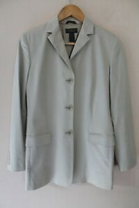 Banana Republic Womens Tan Blazer 3 Button Jacket sz 4 Made In Italy Nice