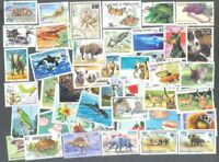 Nature-Animal Life 300 all different stamps collection Pets-Wild -Birds +